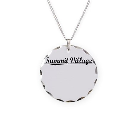 Summit Village, Vintage Necklace Circle Charm