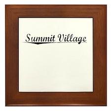 Summit Village, Vintage Framed Tile