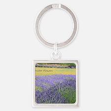 Lavender Square Keychain