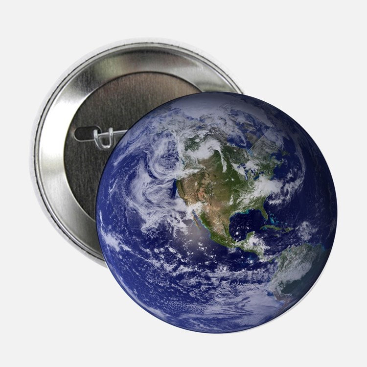 """Earth 2.25"""" Button (10 pack)"""