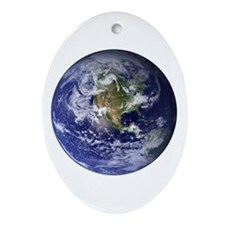 Earth Oval Ornament