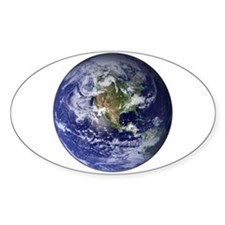 Earth Oval Decal