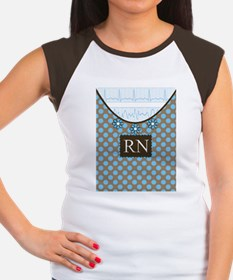 RN 1 Blue polka dots Women's Cap Sleeve T-Shirt