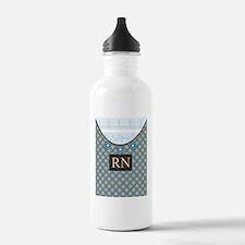 RN 1 Blue polka dots Sports Water Bottle