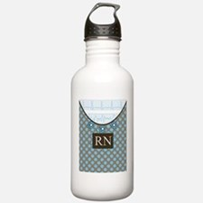 RN 1 Blue polka dots Water Bottle