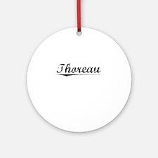 Thoreau, Vintage Round Ornament