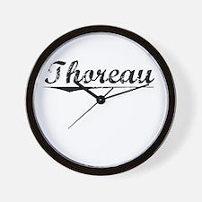 Thoreau, Vintage Wall Clock