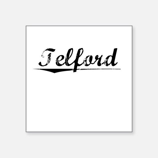"Telford, Vintage Square Sticker 3"" x 3"""