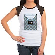 RN 1 Blue polka dots Women's Cap Sleeve T-Shirt