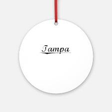 Tampa, Vintage Round Ornament