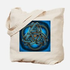 Blue Celtic Triquetra Tote Bag
