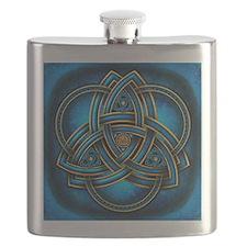 Blue Celtic Triquetra Flask