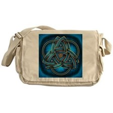 Blue Celtic Triquetra Messenger Bag
