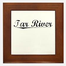 Tar River, Vintage Framed Tile