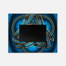 Blue Celtic Triquetra Picture Frame
