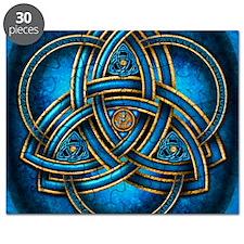 Blue Celtic Triquetra Puzzle