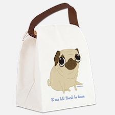 Bacon Pug Canvas Lunch Bag