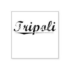 "Tripoli, Vintage Square Sticker 3"" x 3"""