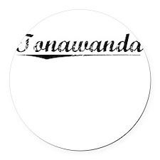 Tonawanda, Vintage Round Car Magnet