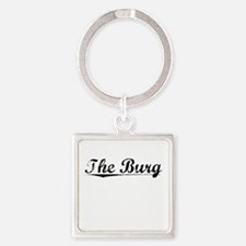 The Burg, Vintage Square Keychain