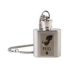 Two Pugs Flask Necklace