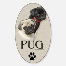 Two Pugs Decal