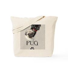 Two Pugs Tote Bag