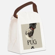 Two Pugs Canvas Lunch Bag