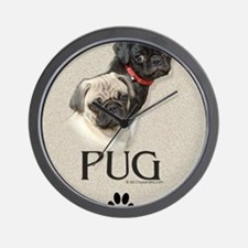 Two Pugs Wall Clock