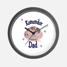 Komondor Dad Wall Clock