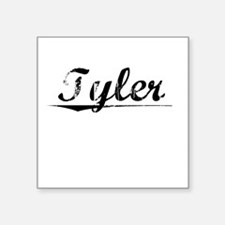 "Tyler, Vintage Square Sticker 3"" x 3"""