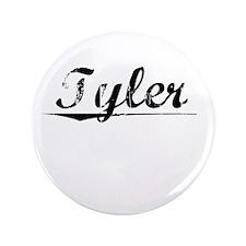 """Tyler, Vintage 3.5"""" Button"""