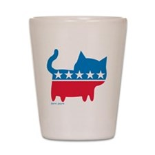 THE CAT PARTY Shot Glass