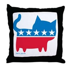 THE CAT PARTY Throw Pillow