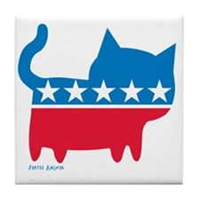 THE CAT PARTY Tile Coaster