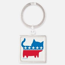 THE CAT PARTY Square Keychain