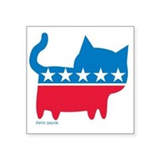 "THE CAT PARTY Square Sticker 3"" x 3"""