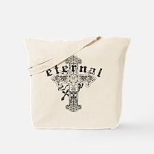 Eternal Edge-Eternal Cross (black) Tote Bag