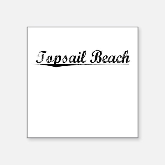 "Topsail Beach, Vintage Square Sticker 3"" x 3"""