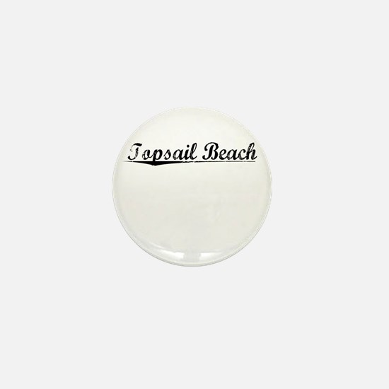 Topsail Beach, Vintage Mini Button