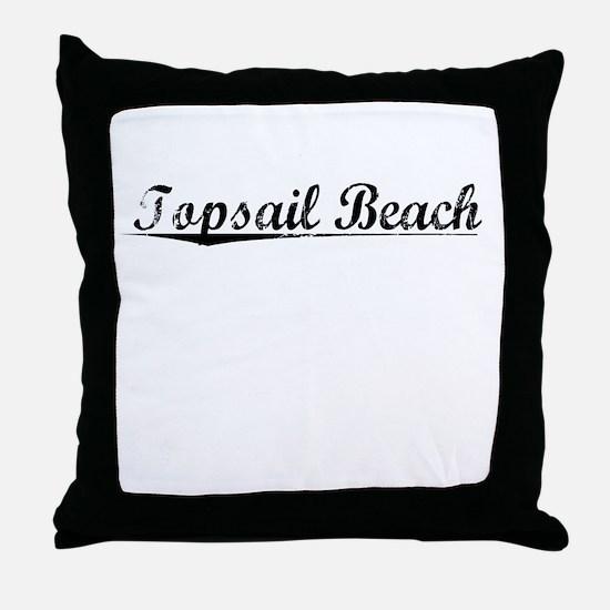 Topsail Beach, Vintage Throw Pillow