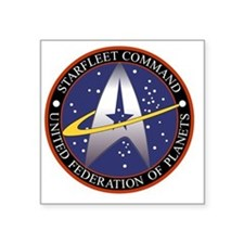 "Starfleet Command Transpare Square Sticker 3"" x 3"""
