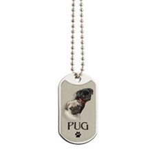 Two Pugs Dog Tags