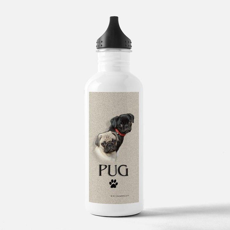 Two Pugs Water Bottle