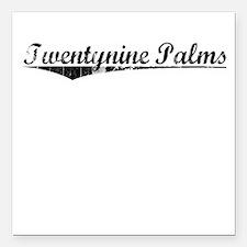 "Twentynine Palms, Vintag Square Car Magnet 3"" x 3"""