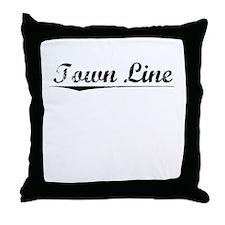 Town Line, Vintage Throw Pillow