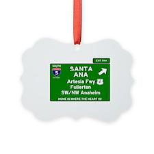 I5 INTERSTATE - CALIFORNIA - SANT Ornament