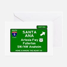I5 INTERSTATE - CALIFORNIA - SANTA A Greeting Card