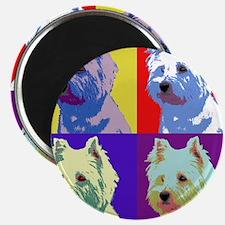 Westie a la Warhol! Magnet