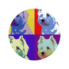 "Westie a la Warhol! 3.5"" Button"